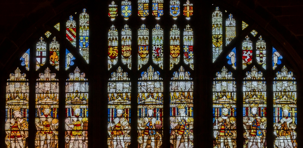 Coventry - King's window, St Mary's Guildhall